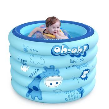 歐培嬰兒充氣游泳池 森林探險藍