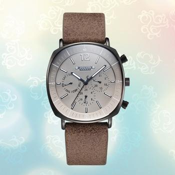 聚利时多功能三眼运动时尚手表