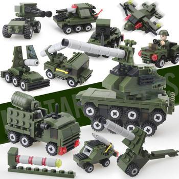奥智嘉益智拼装军事积木玩具