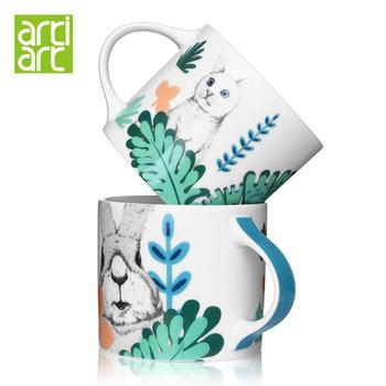 台湾artiart 奇异花园马克杯陶瓷杯