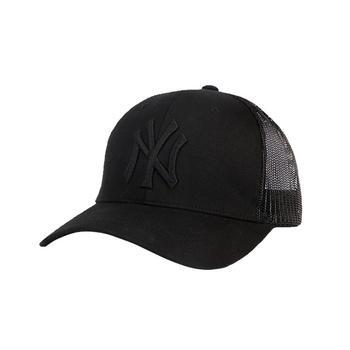 MLB棒球帽黑色半网帽
