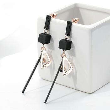 戴拉  925銀針氣質時尚長款耳環