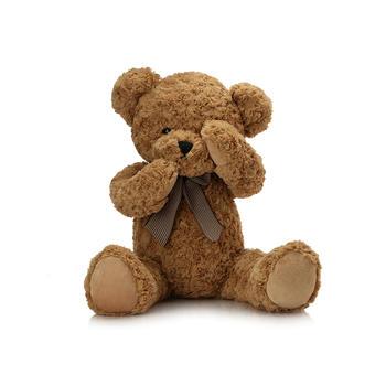柏文熊 领结害羞熊公仔毛绒玩具可爱玩偶泰迪熊1.1米
