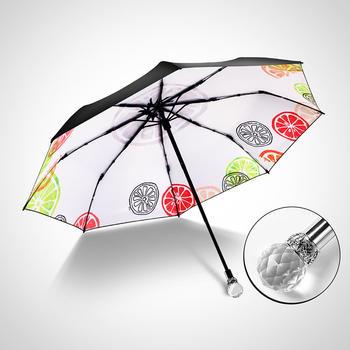 德国iRain三折夏日柠檬防晒晴雨伞