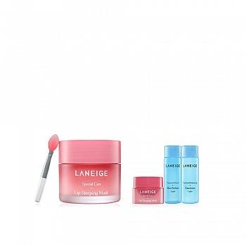 韩国•兰芝(LANEIGE)夜间保湿修护唇膜 4件套组