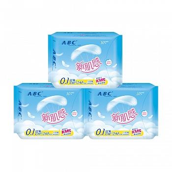 中国•ABC新肌感超薄日用10片*3包 共30片