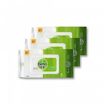 中国•Dettol 滴露 卫生湿巾50片*3包