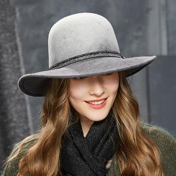 卡蒙毛毡帽全羊毛英伦小礼帽子女