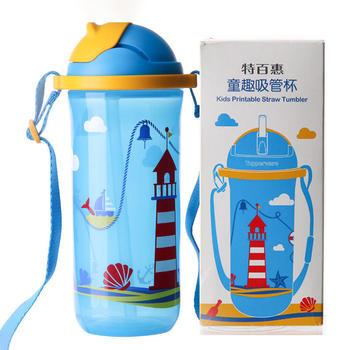 特百惠童趣儿童吸管水杯500ml