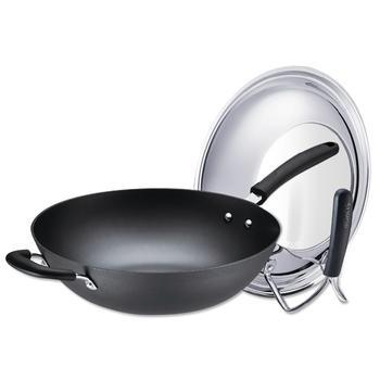 苏泊尔铸铁真不锈健康铁锅可立盖