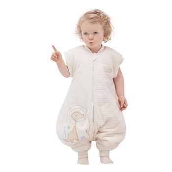 欧孕纯棉宝宝睡袋加厚分腿睡袋天然彩棉防踢被