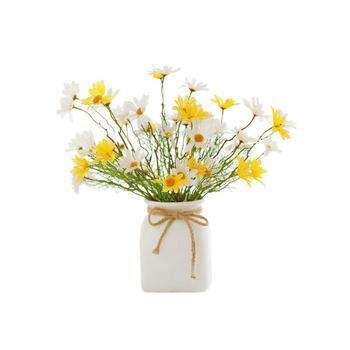 寓义 纯白萌系麻绳陶瓷花器小满