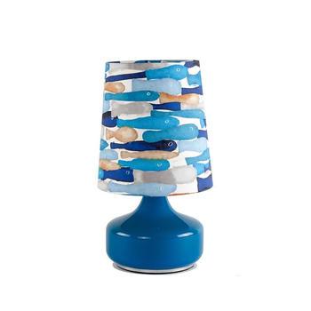 寓义 蓝色童趣水彩游鱼台灯