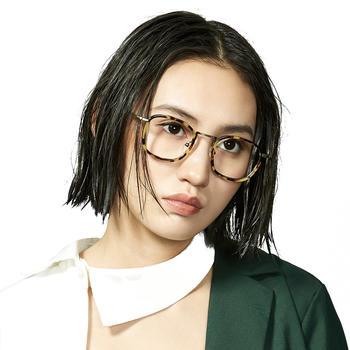 音米韩版潮复古眼镜框装饰眼镜女