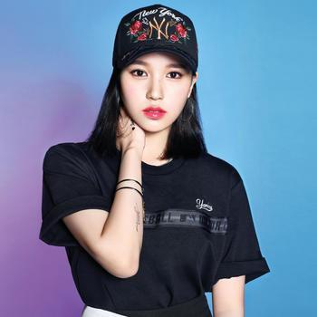 MLB美职棒韩版刺绣玫瑰花棒球帽