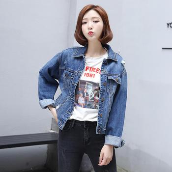 女装牛仔外套CW1801女韩版学生水洗