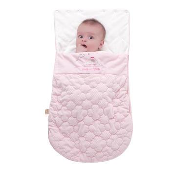 欧孕婴儿纯棉秋冬襁褓抱被棉舒绒