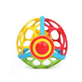 婴幼儿软胶学爬健身球抛接球摇铃