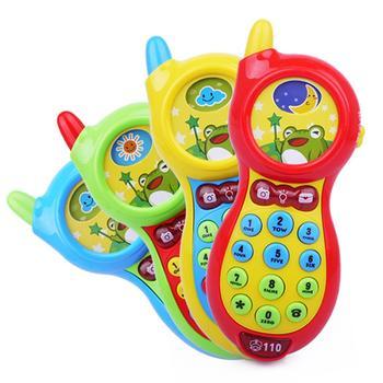彩蛙手机故事机儿童玩具颜色随机