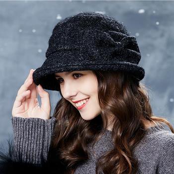 卡蒙英伦毛呢帽韩版优雅小礼帽2