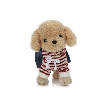 柏文熊条纹泰迪狗毛绒玩具25cm