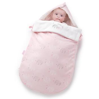 欧孕婴儿抱被秋冬抱纯棉睡袋包巾