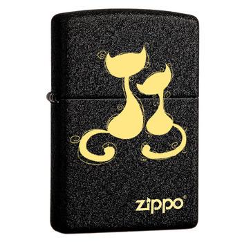 之寶(zippo)236磨砂黑裂漆