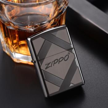 zippo打火机黑冰经典标志