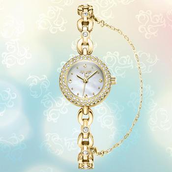 聚利时小表盘优雅贝母手链手表