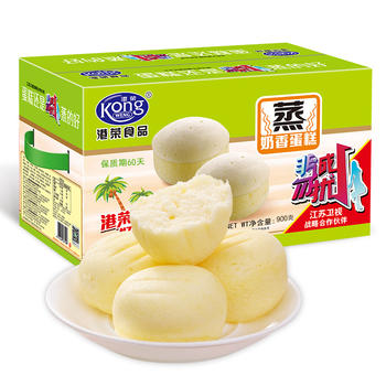 港荣 蒸蛋糕椰子香味900g