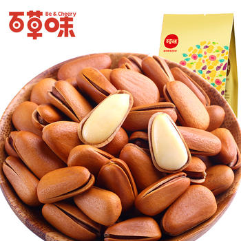 百草味 东北松子200gX2袋 坚果零食