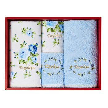 多样屋 花园玫瑰方面浴巾 礼盒装