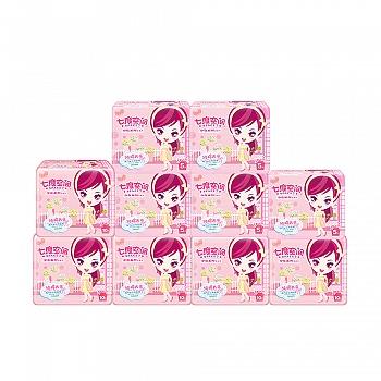 七度空间少女系列纯棉超薄纯日用245mm75片