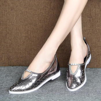 艾米奇专柜正品牛皮休闲丽人单鞋