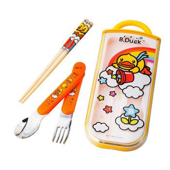B.Duck儿童便携餐具组 3件套