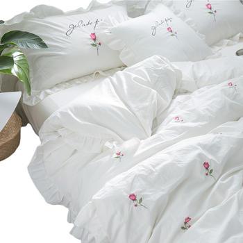 苏娜国际 纯棉北欧水洗棉四件套