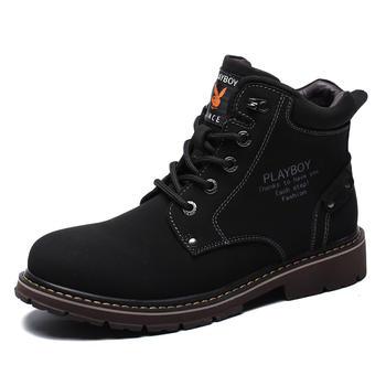 花花公子男靴馬丁靴男加絨靴子
