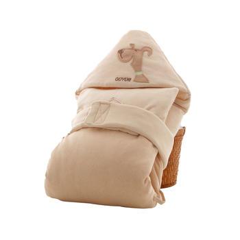 欧 婴儿春秋彩棉抱被襁褓0-6月宝宝抱毯