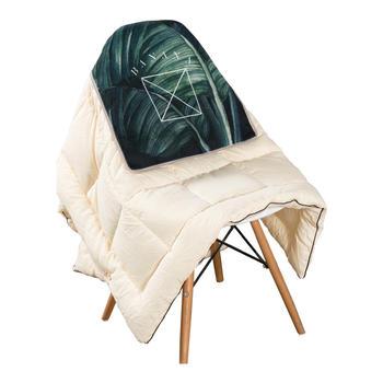 范居态度两用绿色植物抱枕被