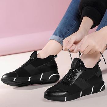 平底休闲鞋学生跑步鞋系带棉鞋