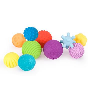 贝恩施婴儿触感软胶手抓球10件套-