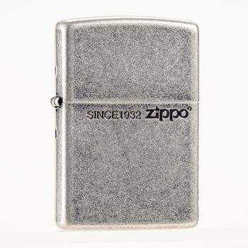 Zippo古银国王在侧个性打火机