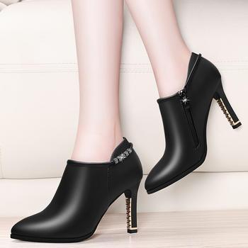 粗跟尖头性感单鞋防滑耐磨女单鞋