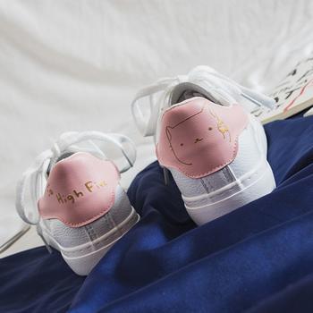 娅莱娅时尚可爱印花休闲小白鞋