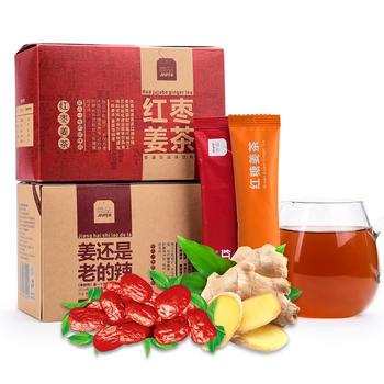 简品红糖+红枣姜茶 暖心姜茶姜汤180g*2盒