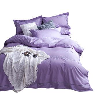 荻嘉茂全棉简约床单四件套罗兰紫