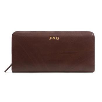 F&G梵谷男士牛皮木纹手拿包