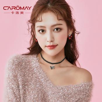 卡洛美 韩版蕾丝蝴蝶锁骨链颈链