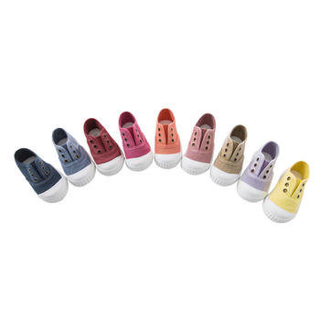 davebella春季儿童布胶鞋 帆布鞋