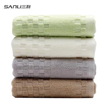 三利毛巾纯棉素色加厚吸水洗脸巾